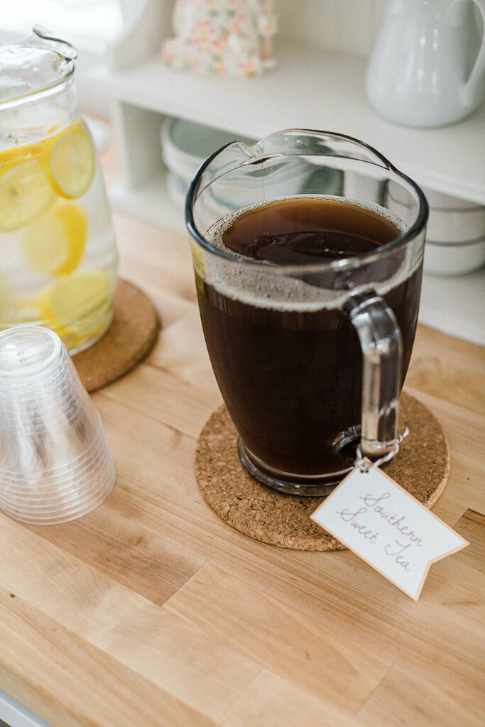 """Southern Sweet Tea from a """"Sweet as Pie"""" Country Kitchen Birthday Party on Kara's Party Ideas   KarasPartyIdeas.com"""