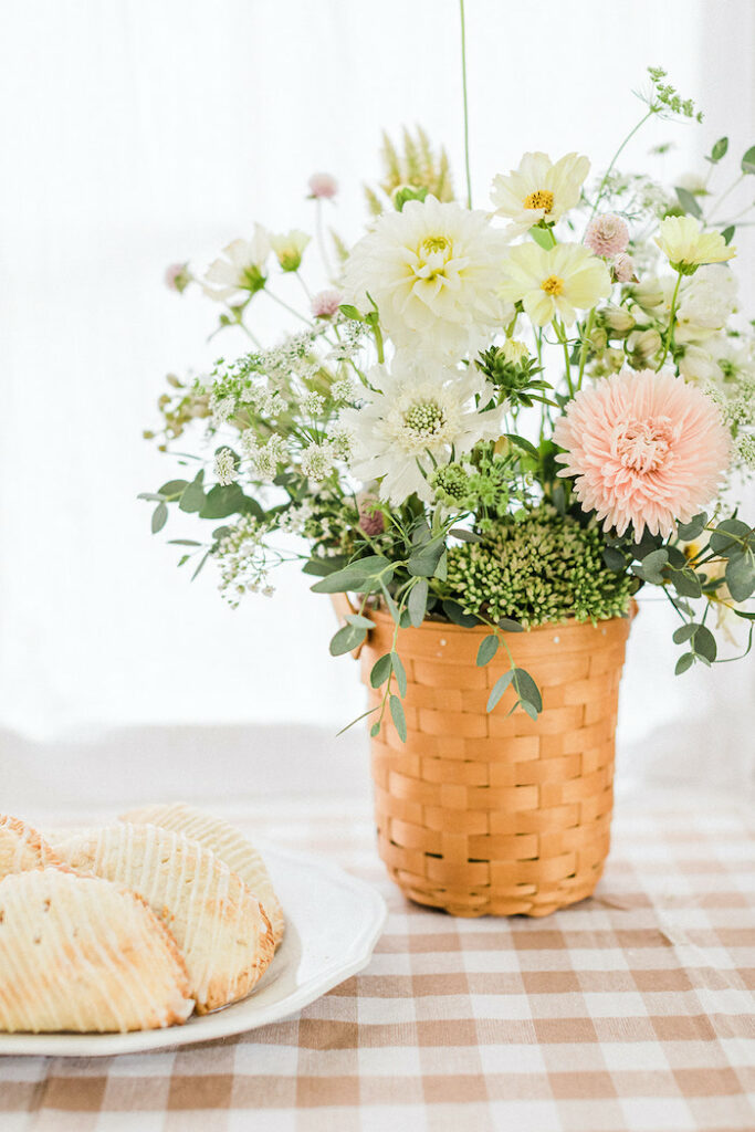 """Florals from a """"Sweet as Pie"""" Country Kitchen Birthday Party on Kara's Party Ideas   KarasPartyIdeas.com"""