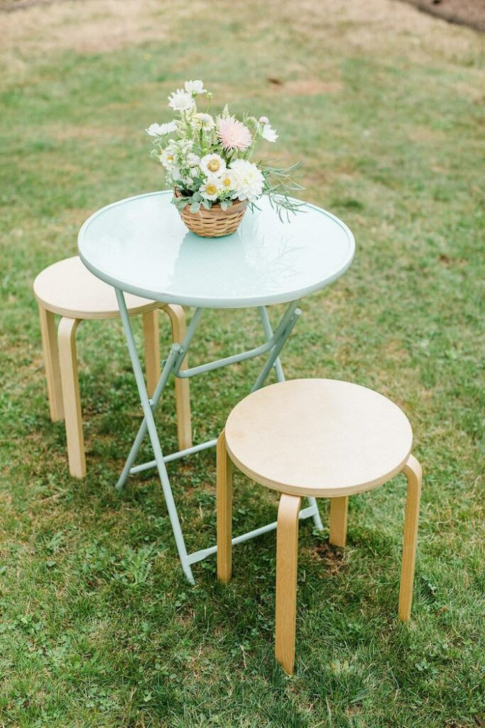 """Garden Table from a """"Sweet as Pie"""" Country Kitchen Birthday Party on Kara's Party Ideas   KarasPartyIdeas.com"""