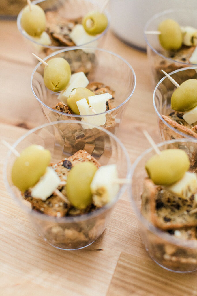 """Appetizer Cups from a """"Sweet as Pie"""" Country Kitchen Birthday Party on Kara's Party Ideas   KarasPartyIdeas.com"""