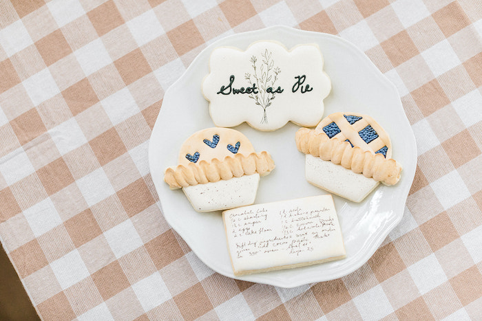 """""""Sweet as Pie"""" Sugar Cookies from a """"Sweet as Pie"""" Country Kitchen Birthday Party on Kara's Party Ideas   KarasPartyIdeas.com"""