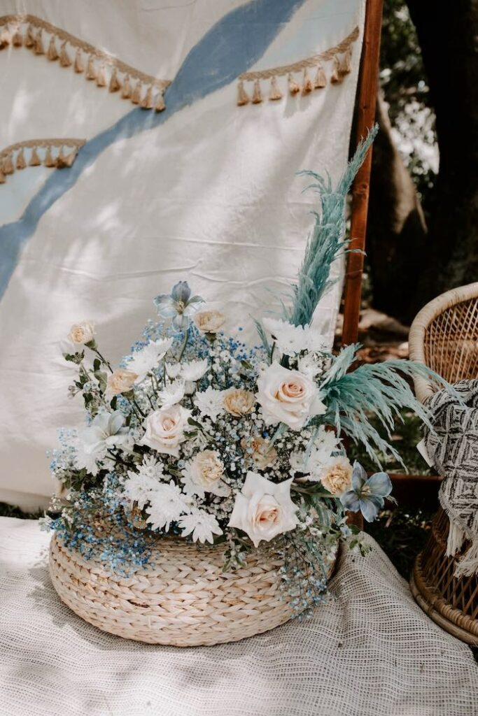 """Boho Blooms from a """"The Big ONE"""" Boho Surf Birthday Party on Kara's Party Ideas 