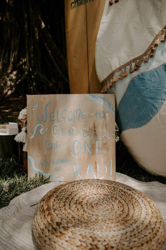 """The Big ONE"" Boho Surf Birthday Party on Kara's Party Ideas | KarasPartyIdeas.com"
