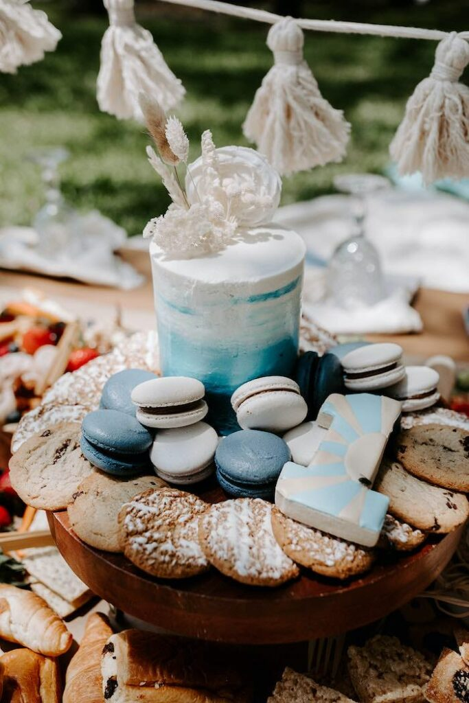 """Smash Cake + Cookies from a """"The Big ONE"""" Boho Surf Birthday Party on Kara's Party Ideas 