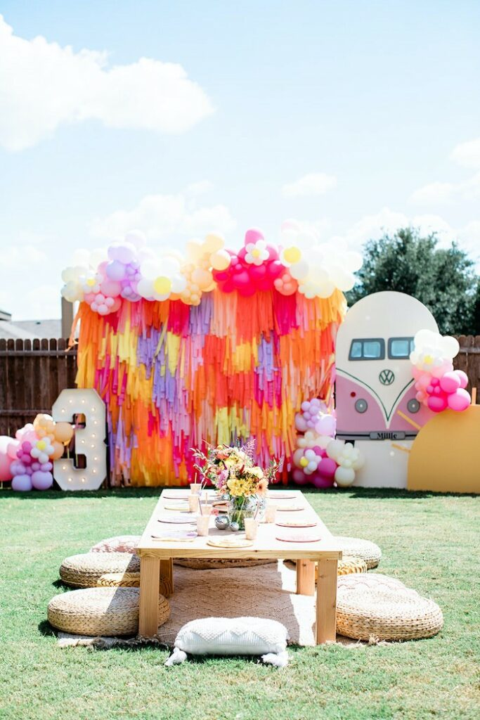 """Groovy """"Young, Wild and THREE"""" Party on Kara's Party Ideas 