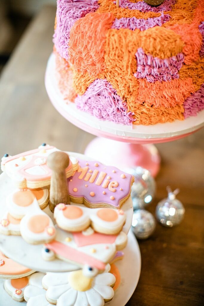 """Groovy Cookies from a Groovy """"Young, Wild and THREE"""" Party on Kara's Party Ideas 