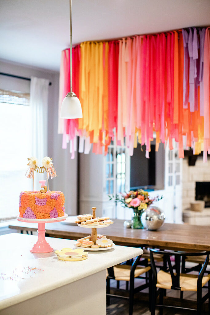 """Party Tables from a Groovy """"Young, Wild and THREE"""" Party on Kara's Party Ideas 