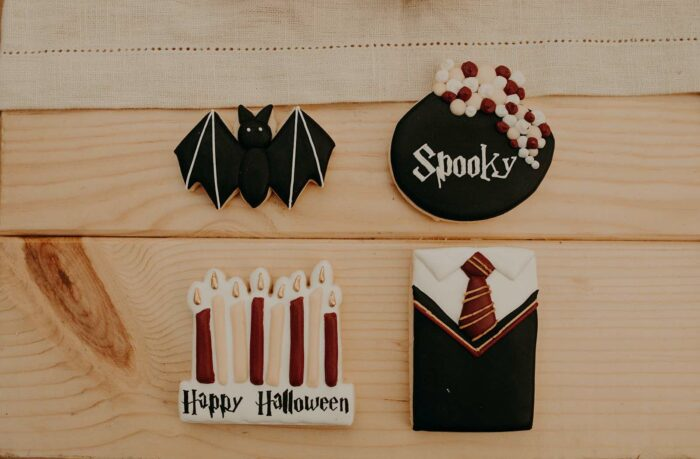 Harry Potter Halloween Cookies from a Harry Potter Halloween Party on Kara's Party Ideas | KarasPartyIdeas.com