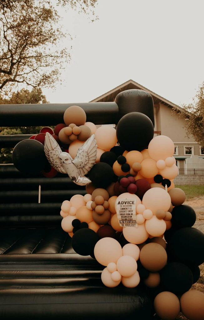 Harry Potter Balloon Garland from a Harry Potter Halloween Party on Kara's Party Ideas | KarasPartyIdeas.com