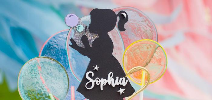 Pastel Rainbow Bubble Bash on Kara's Party Ideas | KarasPartyIdeas.com