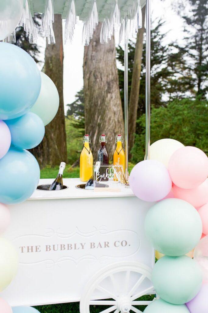 Bubbly Bar from a Pastel Rainbow Bubble Bash on Kara's Party Ideas   KarasPartyIdeas.com