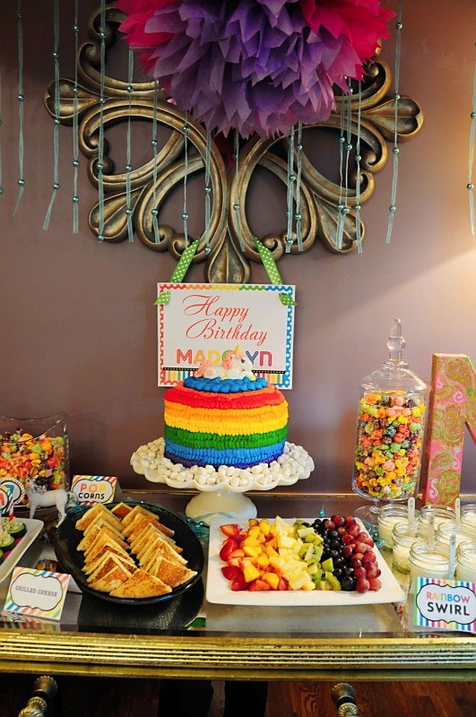 Kara S Party Ideas Rainbow Unicorn 7th Birthday Party