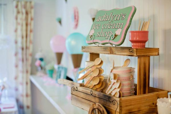 Kara S Party Ideas Vintage Ice Cream Shop 2nd Birthday