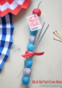 4th of July party favor idea! Kids would love these. BBQ, etc. Smoke bombs in gumball tube available in Kara's Party Ideas shop. Via www.KarasPartyIdeas.com