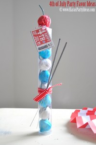 4th of July party favor idea! Smoke bombs in gumball tube available in Kara's Party Ideas shop. Via www.KarasPartyIdeas.com