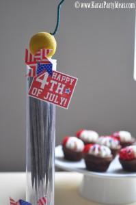 4th of July Sparkler Favors via Kara's Party Ideas-DIY
