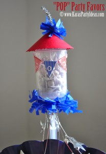 4th of july party favor firework childrens pops in push up pop container www.karaspartyideas.com 3