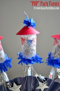 4th of july party favor firework childrens pops in push up pop container www.karaspartyideas.com 4