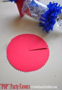 4th of july party favor firework childrens pops in push up pop container www.karaspartyideas.com circle
