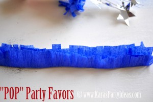 4th of july party favor firework childrens pops in push up pop container www.karaspartyideas.com how to make fringe