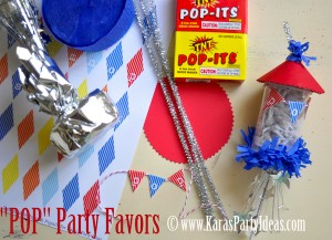 4th of july party favor firework childrens pops in push up pop container www.karaspartyideas.com tutorial supplies needed