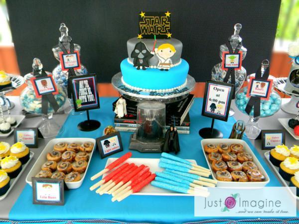Karas Party Ideas Star Wars Boy Space Darth Vader Luke Skywalker