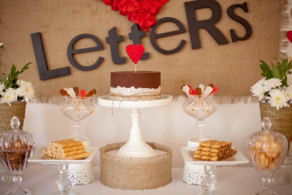Karas Party Ideas Love Letters Dessert Table Husband Birthday