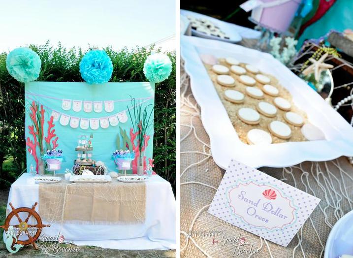 Kara 39 s party ideas ariel the little mermaid 5th birthday for 5th birthday decoration ideas