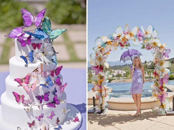 Butterfly Themed Summer Bridal Shower Party Celebration via Kara's Party Ideas - www.KarasPartyIdeas.com