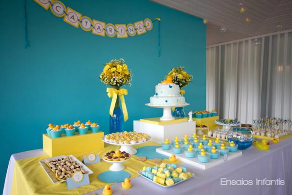 Kara S Party Ideas Yellow And Blue Rubber Duckie 1st