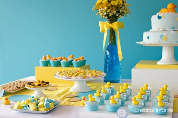 Karas Party Ideas Yellow and Blue Rubber Duckie 1st Birthday Party