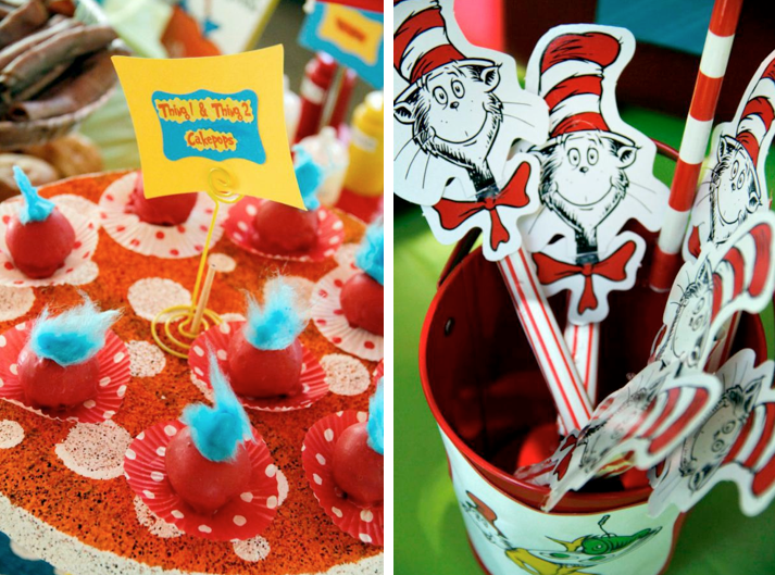 Karas Party Ideas Dr Seuss Cat in the Hat 1st Birthday Party