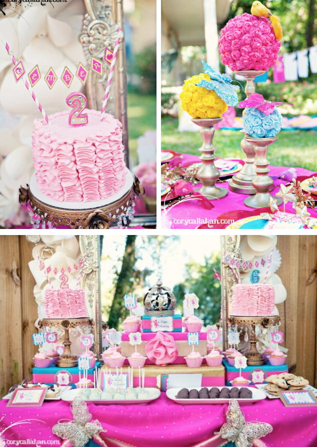 Karas Party Ideas Fairy Themed Birthday Party via Karas Party