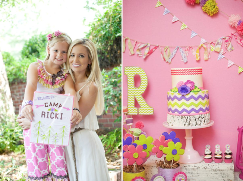 Girly Camping Glamping Birthday Party For The Bachelorettes Daughter