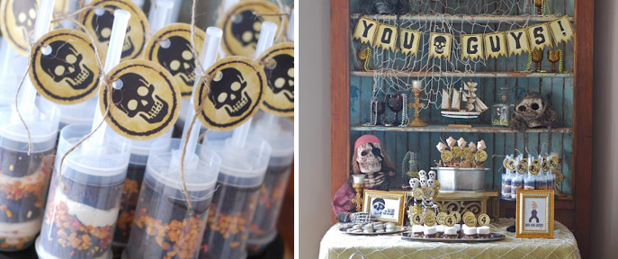 Goonies themed birthday party halloween party via Kara's Party Ideas www.KarasPartyIdeas.com