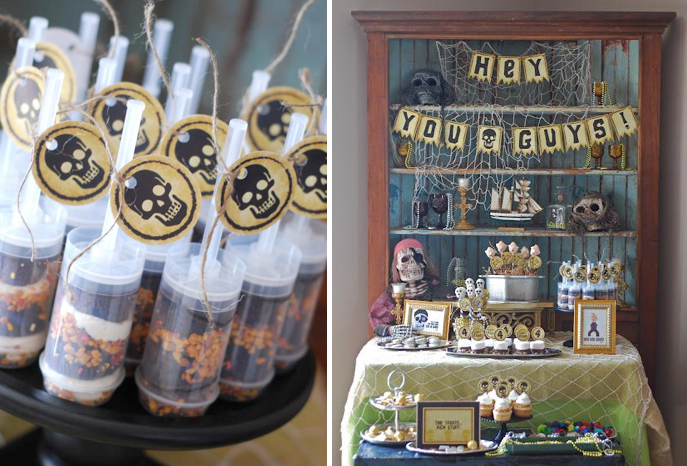 how creative is this goonies themed - Halloween Themed Birthday Party