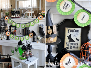 Halloween Witches Ball Witch Cupcakes Printables via Kara's Party Ideas - www.KarasPartyIdeas.com:shop