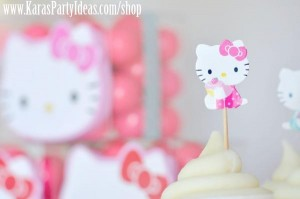 Hello Kitty Birthday Party via Kara's Party Ideas Ideas -www.KarasPartyIdeas.com-shop-45