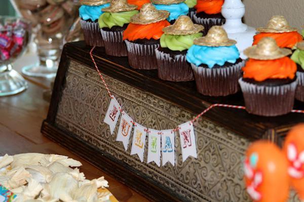 7th birthday mexican fiesta cupcakes | Kara's Party Ideas