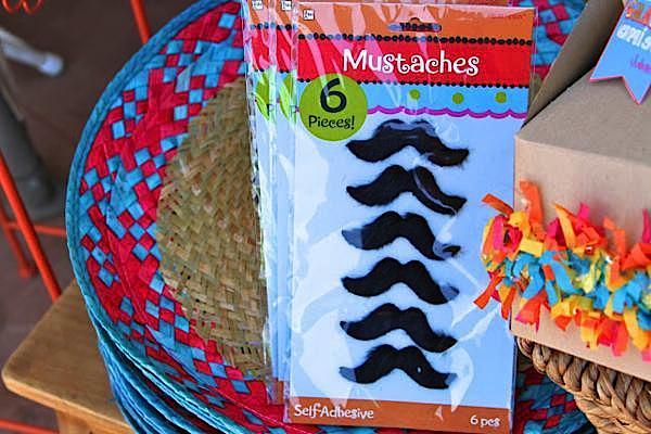 7th birthday mexican fiesta mustaches | Kara's Party Ideas