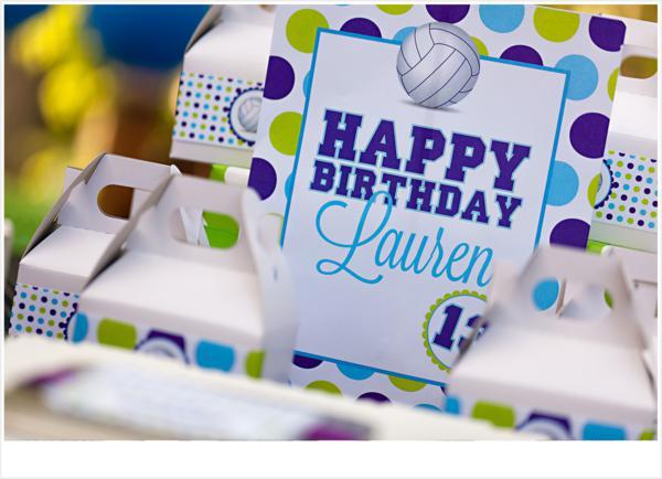 Kara S Party Ideas Volleyball Themed 13th Birthday Party Kara S
