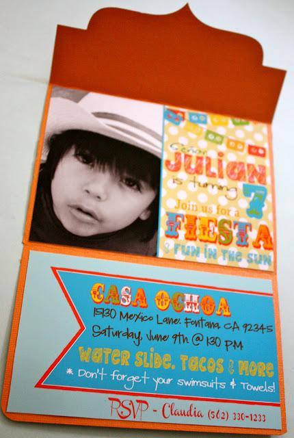 7th birthday mexican fiesta invitation | Kara's Party Ideas
