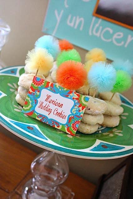 7th birthday mexican fiesta mexican wedding cookies | Kara's Party Ideas