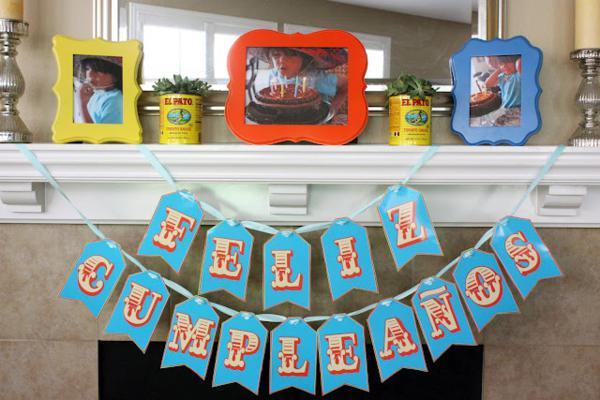 7th Birthday Mexican Fiesta Feliz Cumpleanos Banner | Kara''s Party Ideas
