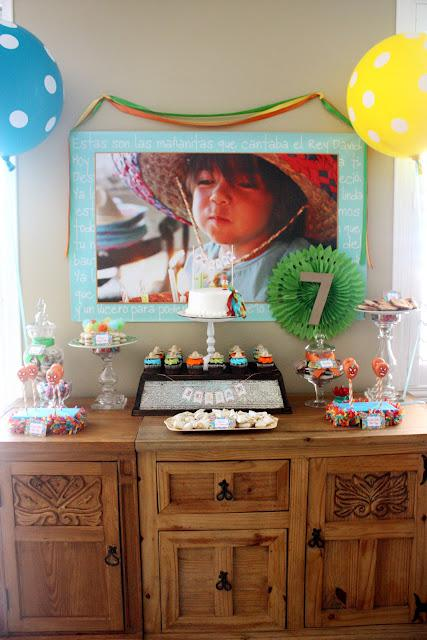 7th Birthday Mexican Fiesta Partyscape | Kara''s Party Ideas