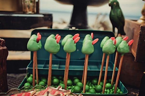 Peter Pan themed Birthday Party by Jenny Cookies via Kara's Party Ideas - www.KarasPartyIdeas.com