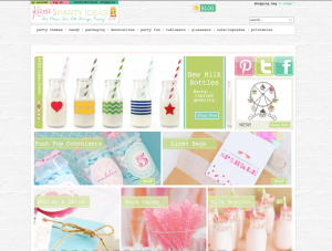 Kara's Party Ideas Shop Home Page 1