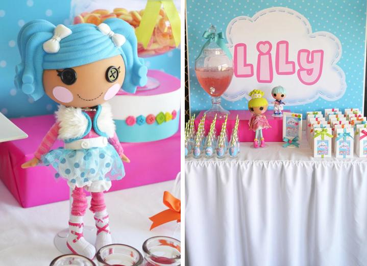 Karas Party Ideas Lalaloopsy Doll Girl Button Sewing Birthday