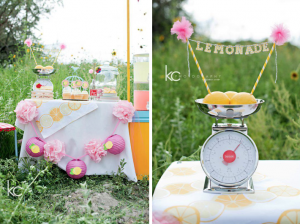 Lemonade stand birthday party via Kara's Party Ideas - www.KarasPartyIdeas.com