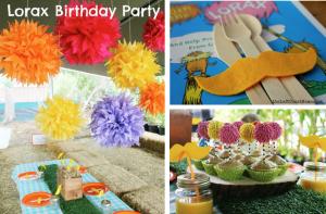 Lorax themed birthday party ideas via www.KarasPartyIdeas.com. Dr Seuss books.